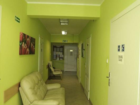 korytarz w poradni uzależnień w Białymstoku